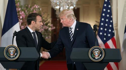 """DIRECT. Nucléaire iranien : """"Nous souhaitons travailler à un nouvel accord"""", annonce Emmanuel Macron aux côtés de Donald Trump"""