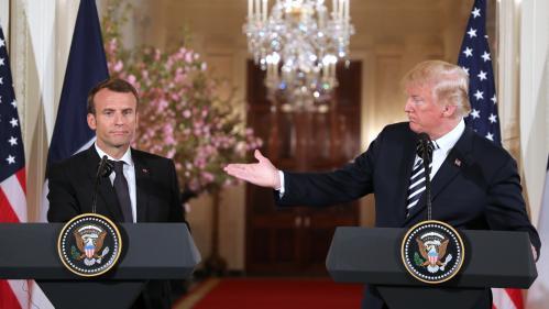 VIDEOS. Nucléaire iranien, Corée du Nord, Syrie : ce qu'il faut retenir de la conférence de presse de Donald Trump et Emmanuel Macron