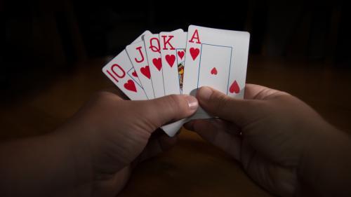 Une écrivaine se met au poker pour écrire un livre, mais devient tellement forte qu'elle laisse son projet en suspens