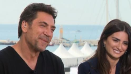 """VIDEO. Festival de Cannes : revivez l'interview de Javier Bardem et Penélope Cruz dans le """"20 heures"""" de France 2"""