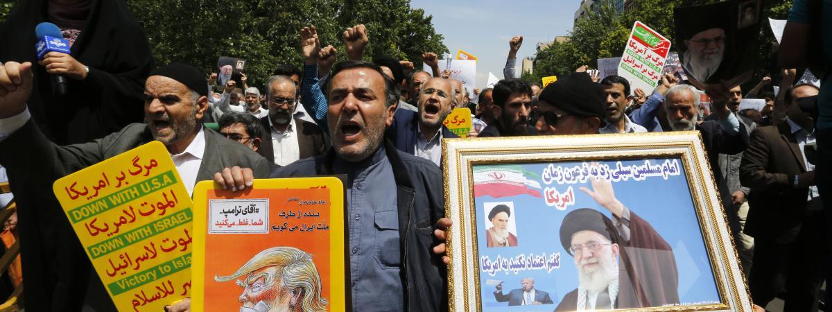 Manifestation anti-américaine à Téhéran (Iran), vendredi 11 mai 2018.