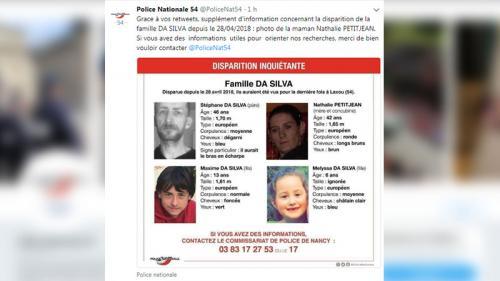 Meurthe-et-Moselle : disparition inquiétante d'un couple et ses deux enfants de 6 ans et 13 ans Nouvel Ordre Mondial, Nouvel Ordre Mondial Actualit�, Nouvel Ordre Mondial illuminati
