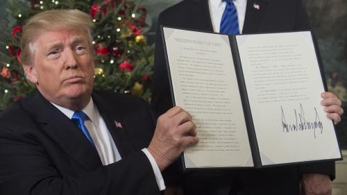 """Ambassade américaine à Jérusalem : Trump estime qu'il a """"fait le job"""", contrairement à Clinton, Bush et Obama"""