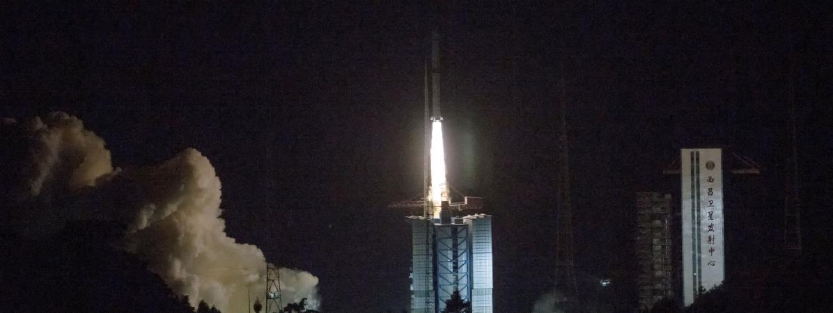 La fusée Longue Marche-4C, lancée depuis la base de lancement de Xichang (sud-ouest).