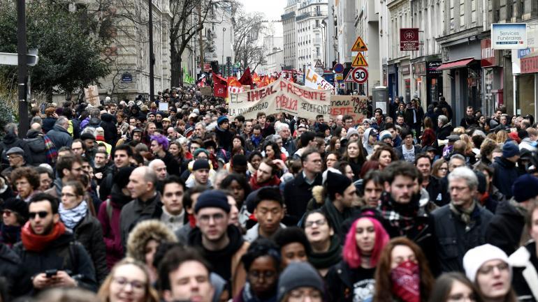 La précédente manifestation des fonctionnaires avait eu lieu le 22 mars 2018. Ici, le défilé parisien.