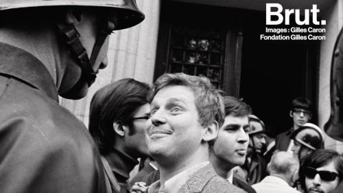 """VIDEO. Mai 68 : Quand l'émission """"C Politique"""" réunit Daniel Cohn-Bendit et le policier qui s'oppose à lui sur une célèbre photo"""