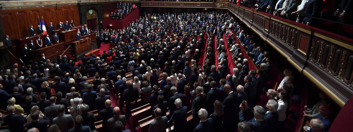 Les députés et sénateurs réunis en congrès à Versailles le 3 juillet 2017.