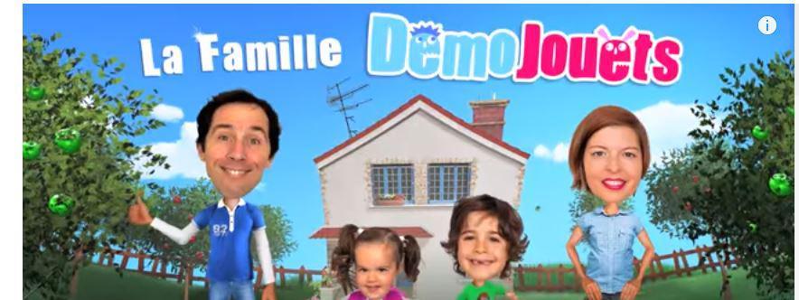 Capture d\'écran de la chaîne Démo Jouets sur YouTube
