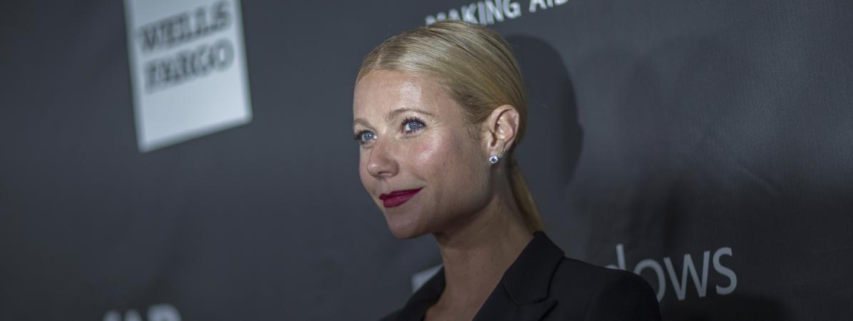 L\'actrice Gwyneth Paltrow au gala de l\'Amfar à Los Angeles, le 29 octobre 2014.