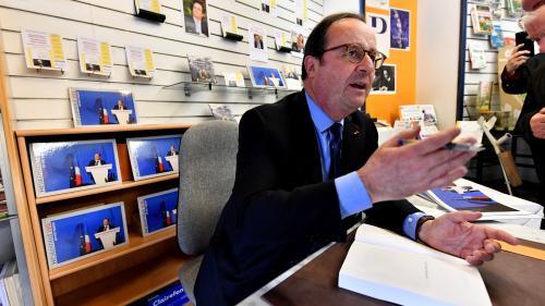 """François Hollande assure avoir écrit son dernier livre """"du début jusqu'à la fin"""""""