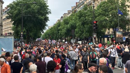 """""""Marée populaire"""" à Paris : 43 personnes interpellées en marge de la manifestation"""