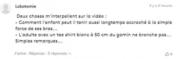 Commentaire publié par un internaute sous un article de franceinfo sur Mamoudou Gasamma.