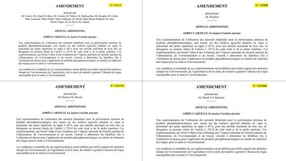Quatre amendements identiques mais déposés par différents députés.
