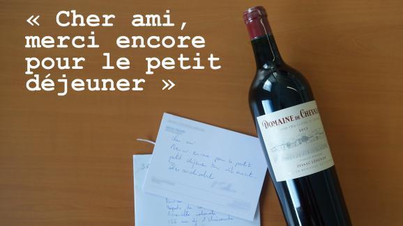 Une bouteille de vin reçue à l\'Assemblée nationale par des centaines de députés, envoyée par un cabinet d\'affaire.