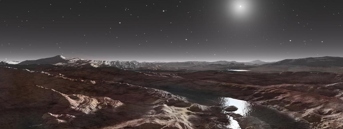 Pluton : une atmosphère, un ciel bleu et de l'eau ! 15151799