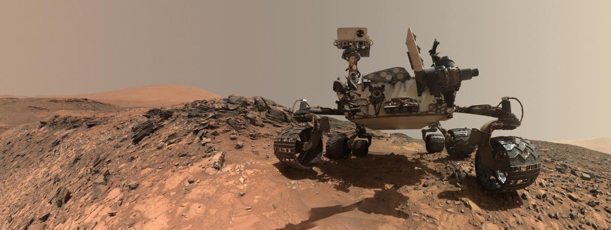 Le Nasa a publié la photo du robot Curiosity sur laplanète Mars, le 7 juin 2018.