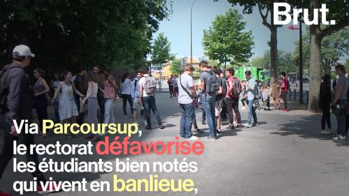 VIDEO. Parcoursup : les bacheliers des banlieues défavorisés par rapport aux bacheliers parisiens, pourtant moins bien notés ? Explications.