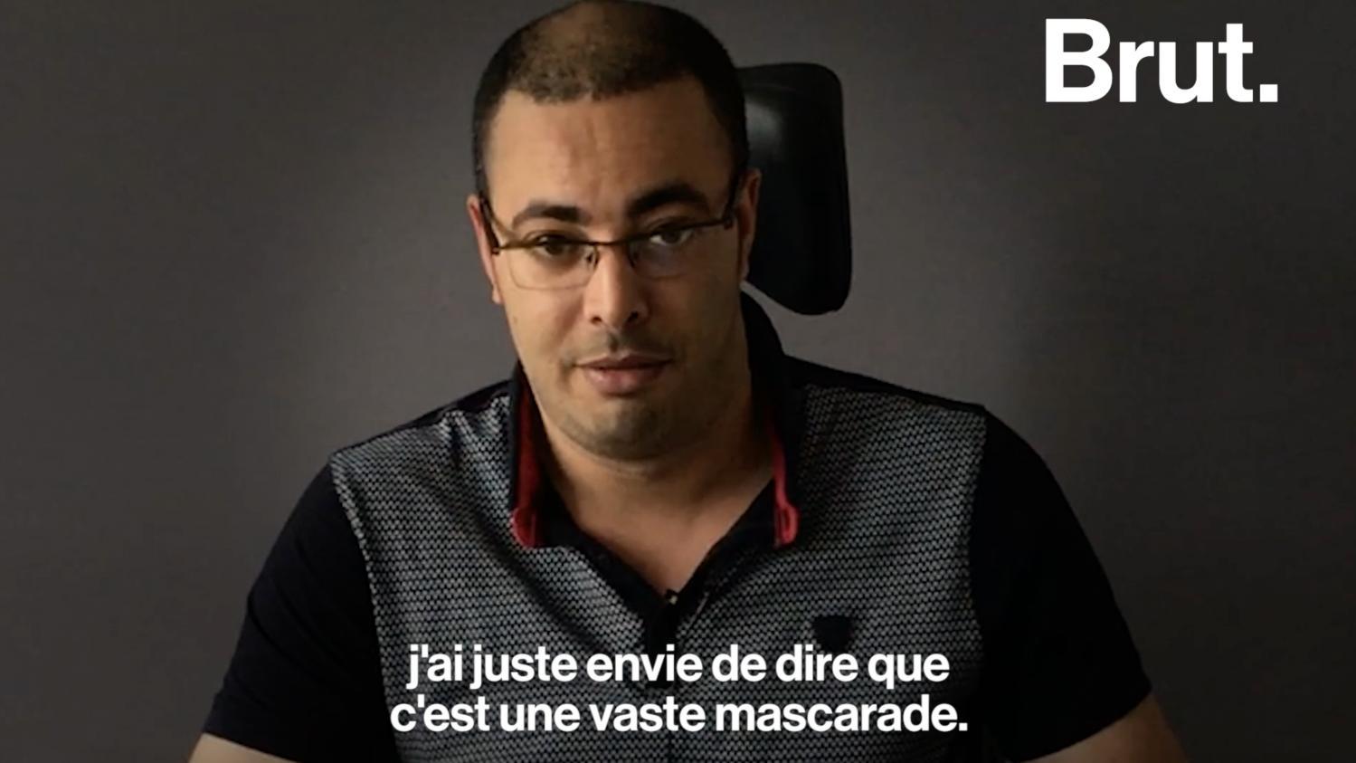 """VIDEO. Loi Elan : handicapé, Khaled dénonce """"un pas de géant vers l'exclusion"""""""