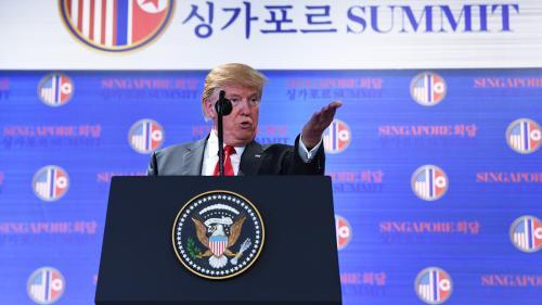 DIRECT. Donald Trump assure que les sanctions économiques sont maintenues pour le moment à l'encontre de la Corée du Nord