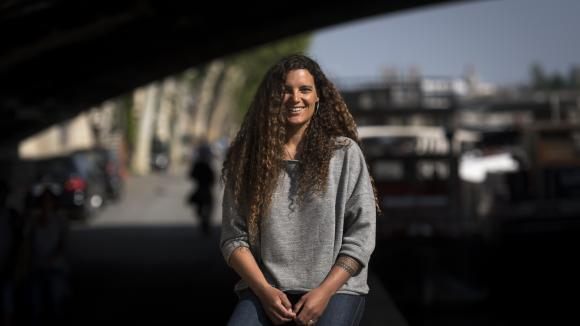 Marie Tabarly, navigatrice, à Paris, le 4 mai 2018.