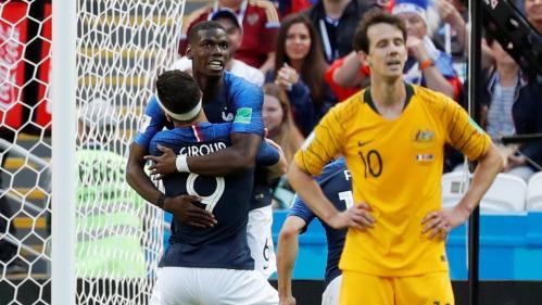 Les Bleus se sortent tant bien que mal du piège australien (2-1) : revivez le match minute par minute