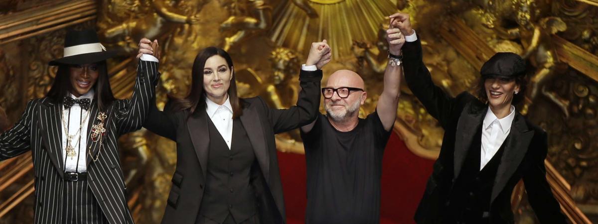 07ca2d86 Des mannequins, une actrice et des millénials, un parterre de stars au show  Dolce & Gabbana