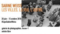 Exposition : « Sabine Weiss – Les villes, la rue, l'autre », au Centre Pompidou, jusqu'au 15 octobre