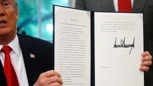 """""""Je n'aimais pas voir des familles séparées"""" : Donald Trump signe un décret pour mettre fin à la séparation des familles de migrants à la frontière avec le Mexique"""