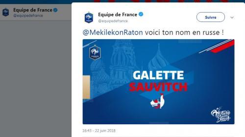 Le compte Twitter de l'équipe de France de football propose un générateur de noms russes (et ça dérape)