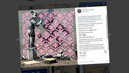 La légende du street-art Banksy dévoile plusieurs œuvres engagées à Paris