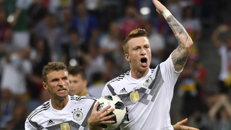 Direct coupe du monde 2018 l 39 allemagne arrache un succ s inesp r face la su de 2 1 et se - Derniere coupe du monde foot ...