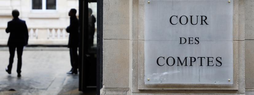 L\'entrée de la Cour des comptes à Paris, le 22 janvier 2018.