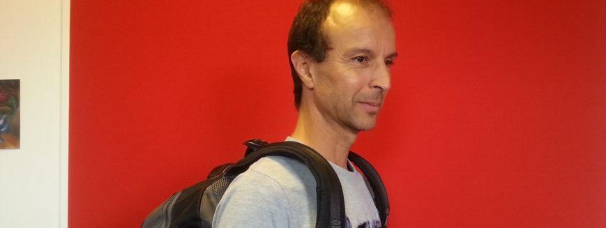 17c2abbdbcf8f Mohammed Errafi le créateur du Gravipack, ce sac à dos qui ne fait pas mal