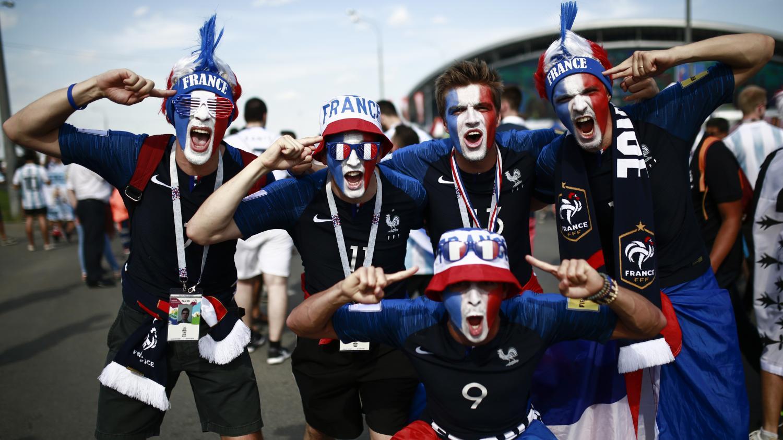 Coupe du monde les fran ais pr ts pour le match des tribunes face aux argentins - Jeux de foot match coupe du monde ...