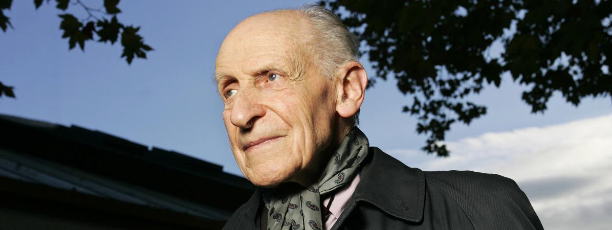 L\'écrivain Georges-Emmanuel Clancier, en 2005.