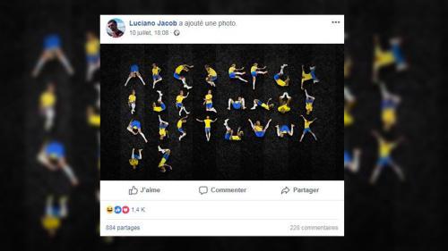 EN IMAGES. Coupe du monde 2018 : un directeur artistique crée une police de caractères avec les roulades de Neymar