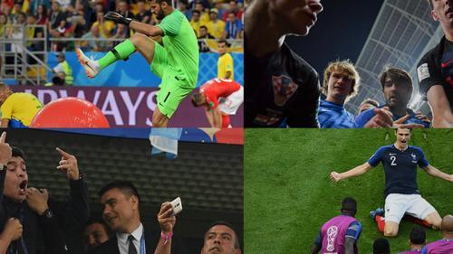 """EN IMAGES. Frasques de Maradona, roulades de Neymar... Notre sélection """"montagne russe"""" des photos qui ont marqué la Coupe du monde 2018"""