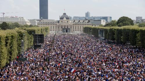 DIRECT. Coupe du monde 2018 : le Champ-de-Mars envahi par 90 000 supporters à Paris