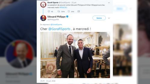 Edouard Philippe s'amuse d'une blague qui imagine Kylian Mbappé lui succéder à Matignon