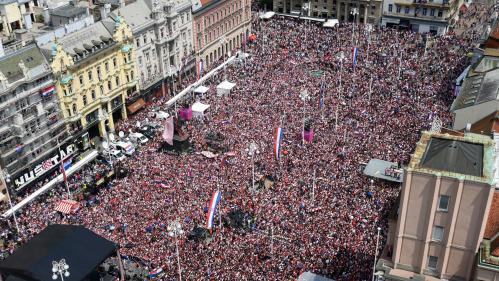 Plus de 300 000 Croates ont célébré leur équipe dans les rues de Zagreb