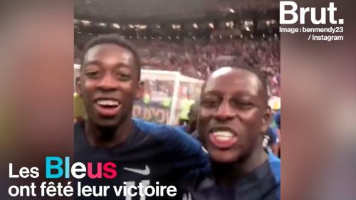 VIDEO. Après leur victoire au Mondial, la célébration animée des Bleus