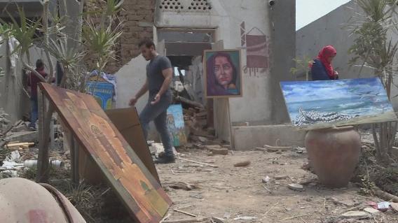 Gaza, l'art dans les ruines