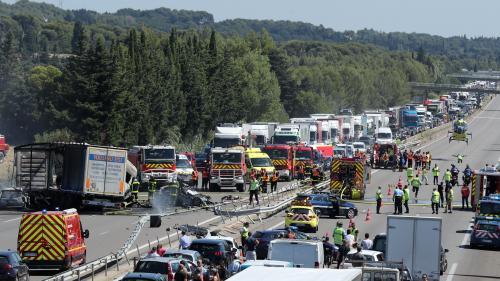 Vaucluse : un poids lourd traverse un terre-plein central de l'A7 et fait au moins trois morts