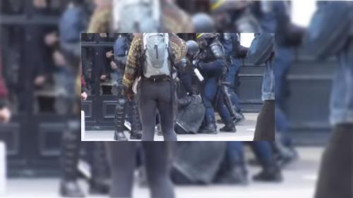 VIDEO. Le jeune homme frappé par Alexandre Benalla a ensuite été menotté par des policiers
