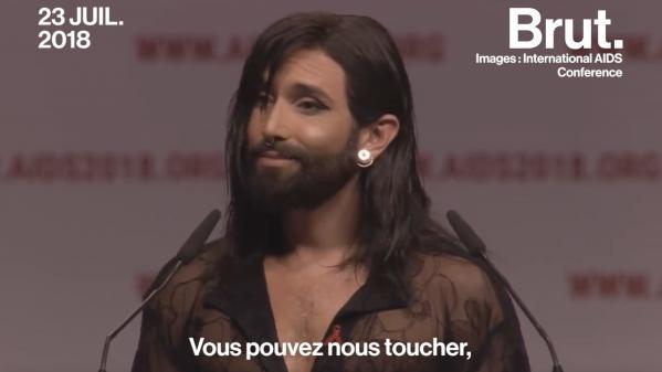 VIDEO. Atteinte du VIH, Conchita Wurst dénonce la stigmatisation de sa maladie