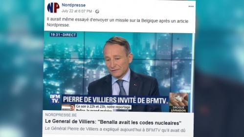 """ENQUETE FRANCEINFO. Même Macron dément leurs """"infos"""" sur l'affaire Benalla : Nordpresse, le site """"satirique"""" belge qui ne fait pas rire tout le monde"""