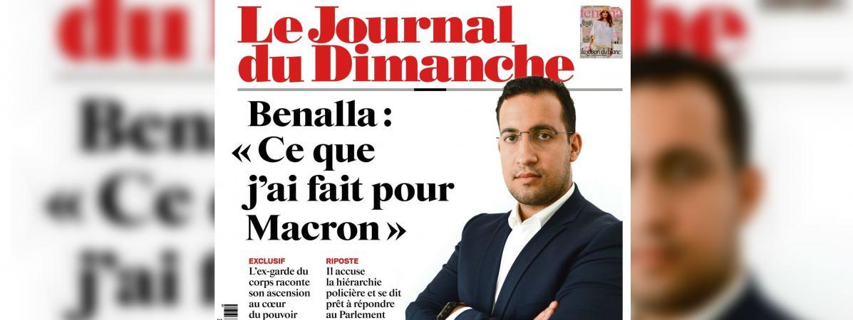 """""""Ça devient pathétique"""" : la une du """"Journal du Dimanche"""" sur l'affaire Benalla vivement critiquée 15529271"""