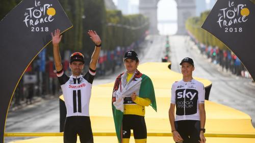 VIDEOS. Kristoff domine le sprint sur les Champs-Elysées et Thomas remporte le Tour de France 2018