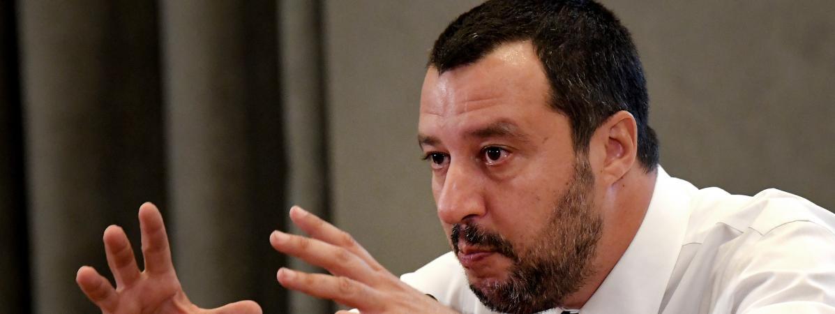 Matteo Salvini, le ministre de l\'Intérieur italien, le 25 juin 2018 à Rome.