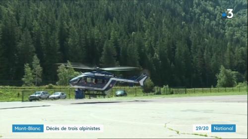 VIDEO. Les images de l'opération de secours après l'accident qui a coûté la vie à trois alpinistes dans les Alpes